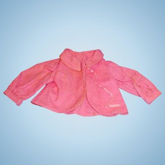 Antique Pink Cotton Flannel Doll Jacket