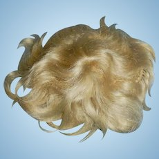 Antique German Blond Mohair Baby Doll Wig