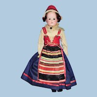Antique Bisque Head Heubach 275 Dressed Scandinavian Doll