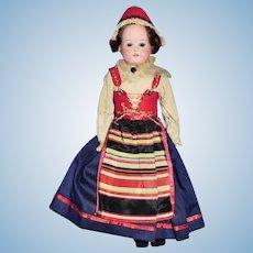 Antique Bisque Head Heubach 275 Dressed Scandinavian Doll
