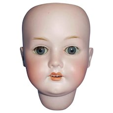 Antique German Bergmann Bisque Socket Doll Head