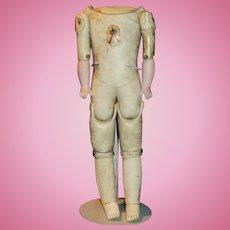 Antique German JD Kestner Kid Leather Doll Body