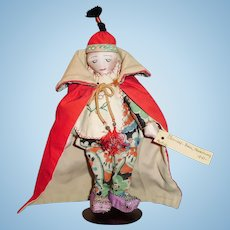 Vintage 1941 All Cloth Chinese Missionary Doll