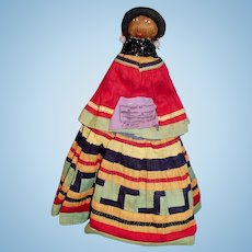 1935 Colorful Seminole Native American Doll