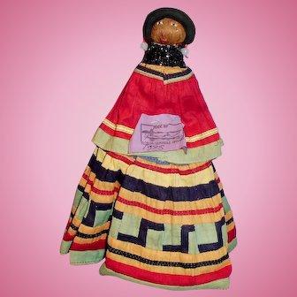 1935 Colorful Seminole Native American Doll