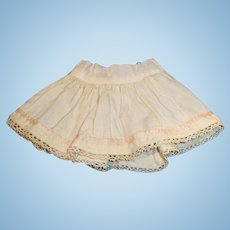 Antique Small Wool Lace Trimmed Half Doll Slip