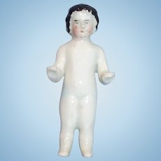 Antique Frozen Charlotte With Molded Boots China Doll