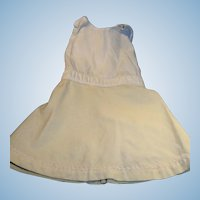Antique Cream Color Cotton And Wool Full Doll Slip