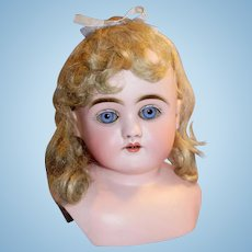 Sweet Antique German Kestner H Bisque Doll Head