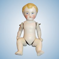 "4"" Antique German Pin Jointed All Bisque Doll"