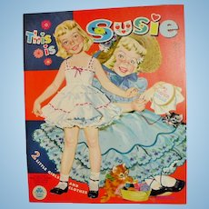 Vintage Merrill Susie And Jo Ann Paper Doll Uncut Book