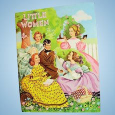 Vintage 1960 Saalfield Little Women Paper Dolls Uncut Book
