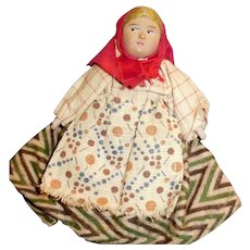 4 Inch Vintage Soviet Union Composition And Cloth Doll