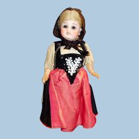 "7"" Original Antique German 44 GK Bisque Head Doll"