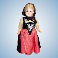 """7"""" Original Antique German 44 GK Bisque Head Doll"""