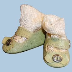 Vintage 1940 Effanbee Doll Side Snap Shoes And Socks