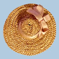 Small Antique Straw Doll Hat