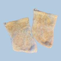 Antique Commercial Cream Color Doll Socks