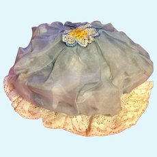 1920 Organdy And Lace Doll Hat