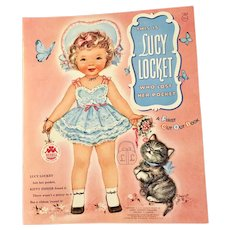 Lucy Locket n Kitty Paper Doll Book