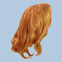 Antique Dark Blond Human Hair Doll Wig