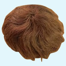 Antique Brown Human Hair Baby Doll Wig