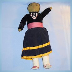 Large Old Cloth Navajo Doll in Original Clothes