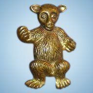 Circa 1915 Embossed Metal Teddy Bear Pin