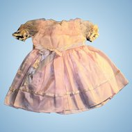 Vintage 1950's Pink Taffeta Satin and Net Doll Dress