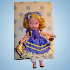 NASB Storybook Painted All Bisque Goldilocks Doll 128