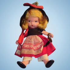NASB Painted All Bisque Jointed Leg To Market 120 Doll