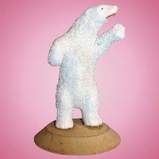 Antique All Bisque Standing Polar Bear Snow baby