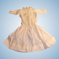 1900 White Cotton and Lace Low Waist Doll Dress