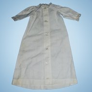 1860s French Fashion White Cotton Doll Dressing Gown
