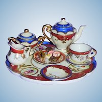 Vintage Occupied Japan Doll Small Porcelain Tea Set