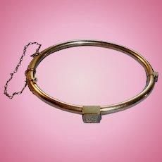 Victorian Gold Filled Hinged Wedding Bracelet
