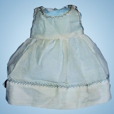 Vintage White Embroidered Doll Pinafore Jumper