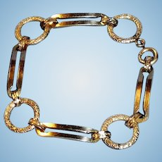 Antique Victorian 12K Gold Filled Link Bracelet