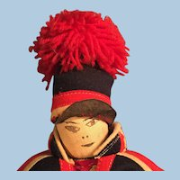 All Cloth Drawn Ink Face Lapland Costume Doll