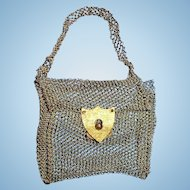 Antique Metal Wire Mesh Doll Purse