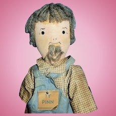 Vintage Wood Schoenhut TY PINN Doll All Original
