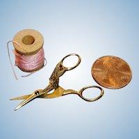 Antique German Doll Size Figural Bird Scissors