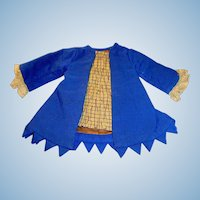 Antique Royal Blue Wool French Bebe Doll Jacket