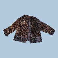 Unusual Antique French Fashion Doll Wool Jacket