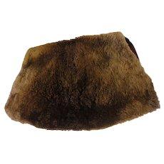 Vintage Large Sheared Beaver Fur Muff Purse - Red Tag Sale Item