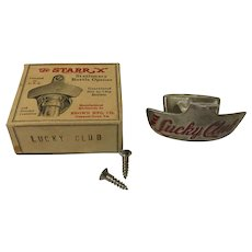 Vintage Lucky Club StarrX Soda Beer Bottle Opener In Box