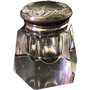 F&B Sterling Silver & Crystal Inkwell