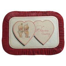 Vintage Rose O'Neill Kewpie Valentine Card Plaque