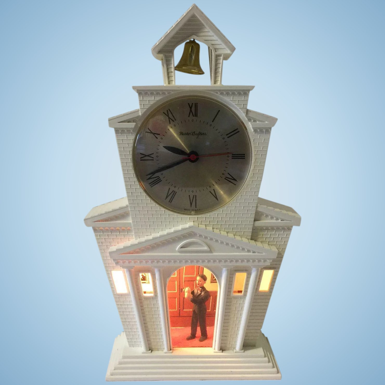 Vintage Mastercrafters Motion Clock Church With Bell