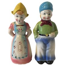 Huge Vintage Dutch Boy & Girl Salt and pepper Shakers